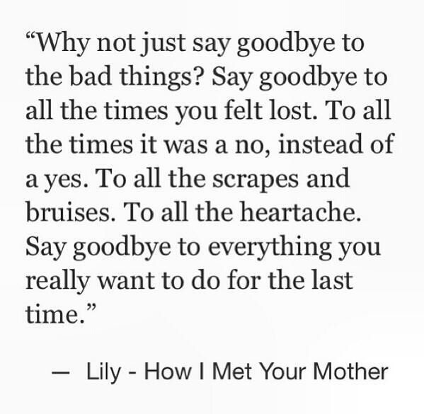 Say goodbye to the badthings